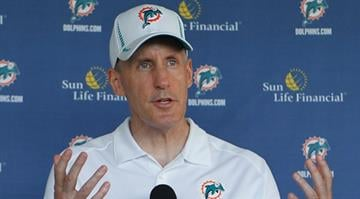 DAVIE, FL - MAY 4: Head coach Joe Philbin of the Miami Dolphins talks to the media after the rookie minicamp on May 4, 2012 at the Miami Dolphins training facility in Davie, Florida. (Photo by Joel Auerbach/Getty Images) By Joel Auerbach