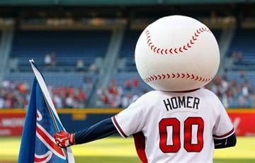 ATLANTA, GA - MAY 29:  Homer, mascot of the Atlanta Braves, stands during the National Anthem prior to the game against the St. Louis Cardinals at Turner Field on May 29, 2012 in Atlanta, Georgia.  (Photo by Kevin C. Cox/Getty Images) By Kevin C. Cox