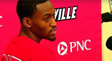 Kevin Ware speaks to reporters, April 3, 2013. / CBS By Brendan Marks