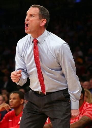 NEW YORK, NY - MARCH 12:  Head coach Mike Rice of the Rutgers Scarlet Knights directs his players in the first half against the DePaul Blue Demons at Madison Square Garden on March 12, 2013 in New York City.  (Photo by Elsa/Getty Images) By Elsa