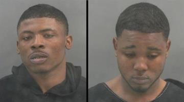 Devion Russell, 20, and Christopher Duffy, 22, were each charged with five counts of robbery, three counts of assault and eight counts of armed criminal action. By Dan Mueller