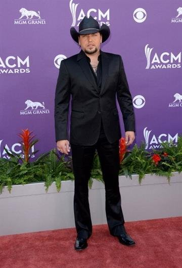 LAS VEGAS, NV - APRIL 07:  Musician Jason Aldean arrives at the 48th Annual Academy of Country Music Awards at the MGM Grand Garden Arena on April 7, 2013 in Las Vegas, Nevada.  (Photo by Jason Merritt/Getty Images) By Jason Merritt