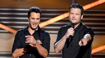 "Blake Shelton and Miranda Lambert win song of the year for ""Over You"". By Dan Mueller"