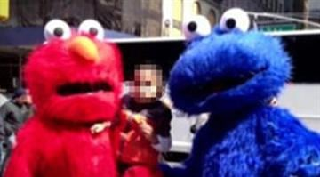 Police say Quiroz-Lopez demanded $2 from a Connecticut family who posed for a photo with him dressed as the furry blue character. The family refused to pay and the child's parents told police Quiroz-Lopez shoved the toddler. By Belo Content KMOV