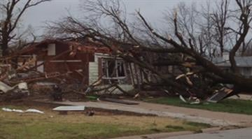 At least 24 homes were damaged when a severe storm swept through the St. Louis area Wednesday evening. By Brendan Marks