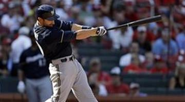 Jonathan Lucroy's solo home run in the 10th inning was the difference in Sunday's contest By Jeff Roberson