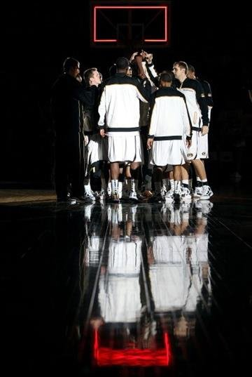 COLUMBIA, MO - DECEMBER 15:  The Missouri Tigers huddle prior to the start of the game against the Kennesaw State Owls on December 15, 2011 at Mizzou Arena in Columbia, Missouri.  (Photo by Jamie Squire/Getty Images) By Jamie Squire