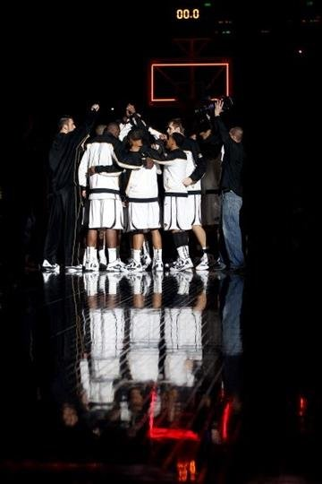 COLUMBIA, MO - JANUARY 03:  The Missouri Tigers huddle following player introductions prior to the game against the Oklahoma Sooners on January 3, 2012 at Mizzou Arena in Columbia, Missouri.  (Photo by Jamie Squire/Getty Images) By Jamie Squire
