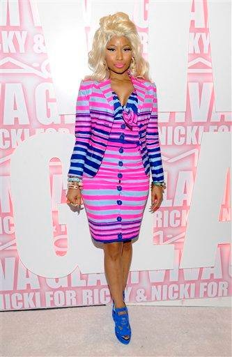 Singer Nicki Minaj attends the MAC Viva Glam new product campaign launch event at Stage 37 on Wednesday, Feb. 15, 2012 in New York. (AP Photo/Evan Agostini) By Evan Agostini