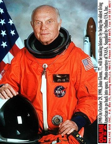 1998. On October 29, 1998, John Glenn, 77, Will Be Making History As The Oldest Living American To Go Back Into Space. (Photo By Nasa/Getty Images) By NASA