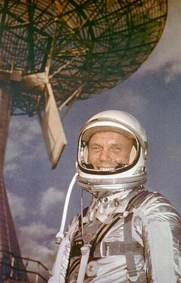 376999 01: Cape Canaveral, Fla. - Astronaut Lt. Col. John H. Glenn, Feb. 13, 1962.  (Photo By Nasa/Getty Images) By NASA