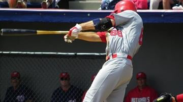 Allen Craig takes a swing in his first at-bat of Friday's game featuring the Cardinals and the Washington Nationals. (Brendan Marks/KMOV) By Lakisha Jackson