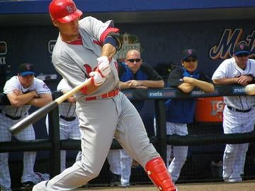 Cardinals prospect Allen Craig takes a swing in the first inning of Monday's Mets-Cardinals game. By Lakisha Jackson