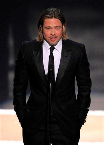 Brad Pitt is seen onstage at the 18th Annual Screen Actors Guild Awards on Sunday Jan. 29, 2012 in Los Angeles. (AP Photo/Mark J. Terrill) By Mark J. Terrill