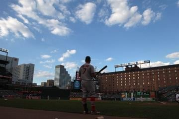BALTIMORE, MD - JUNE 29:  Matt Holliday #7 of the St. Louis Cardinals waits to bat against the Baltimore Orioles at Oriole Park at Camden Yards on June 29, 2011 in Baltimore, Maryland.  (Photo by Rob Carr/Getty Images) By Rob Carr