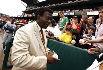 MEMPHIS, TN - MARCH 31:  Lou Brock, baseball legend, signs autographs before the Civil Rights Game on March 31, 2007 at AutoZone Park in Memphis, Tennessee.  (Photo by Joe Murphy/Getty Images) By Getty Images