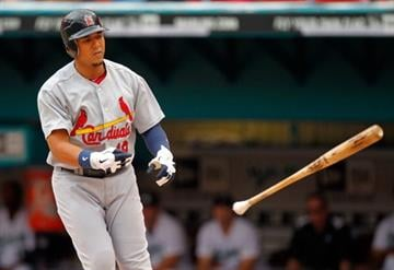 MIAMI GARDENS, FL - AUGUST 07: Jon Jay #19 of the St. Louis Cardinals walks during a game against the Florida Marlins at Sun Life Stadium on August 7, 2011 in Miami Gardens, Florida. (Photo by Mike Ehrmann/Getty Images) By Mike Ehrmann