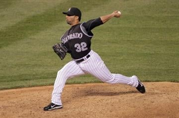 DENVER, CO - SEPTEMBER 07:  Relief pitcher J.C. Romero #32 of the Colorado Rockies works against the Arizona Diamondbacks at Coors Field on September 7, 2011 in Denver, Colorado.  (Photo by Doug Pensinger/Getty Images) By Doug Pensinger
