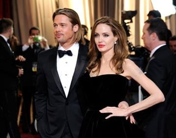 HOLLYWOOD, CA - FEBRUARY 26:  Actors Brad Pitt and Angelina Jolie arrive at the 84th Annual Academy Awards held at the Hollywood & Highland Center on February 26, 2012 in Hollywood, California.  (Photo by Ethan Miller/Getty Images) By Ethan Miller