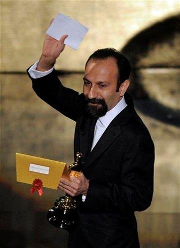 Asghar Farhadi, of Iran, accepts the Oscar for best foreign language film for ?A Separation? during the 84th Academy Awards on Sunday, Feb. 26, 2012, in the Hollywood section of Los Angeles. (AP Photo/Mark J. Terrill) By Mark J. Terrill