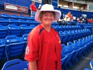 Peggy Snyders from Jerseyville IL. Here for a week. Favorite players are Lance Berkman and Matt Holliday. By Bryce Moore