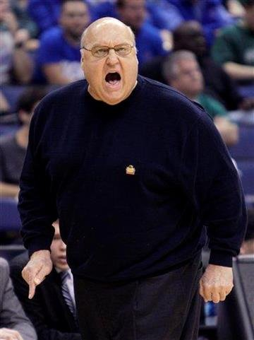 Saint Louis' Rick Majerus coaches against Memphis during the first half of an NCAA college basketball tournament second-round game Friday, March 16, 2012, in Columbus, Ohio. (AP Photo/Jay LaPrete) By Jay LaPrete