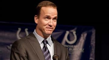 INDIANAPOLIS, IN - MARCH 07:  Peyton Manning attends a press conference announcing Manning's release from the Colts at Indiana Farm Bureau Football Center on March 7, 2012 in Indianapolis, Indiana.  (Photo by Joey Foley/Getty Images) By Joey Foley