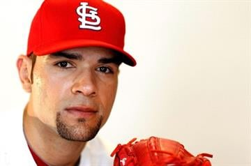 JUPITER, FL - FEBRUARY 29:  Jaime Garcia #54 of the St. Louis Cardinals poses during photo day at Roger Dean Stadium on February 29, 2012 in Jupiter, Florida.  (Photo by Mike Ehrmann/Getty Images) By Mike Ehrmann
