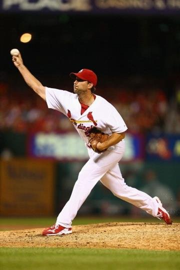 ST. LOUIS, MO - JULY 7: Starter Adam Wainwright #50 of the St. Louis Cardinals pitches against the Pittsburgh Pirates in the second inning at Busch Stadium on July 7, 2014 in St. Louis, Missouri.  (Photo by Dilip Vishwanat/Getty Images) By Dilip Vishwanat