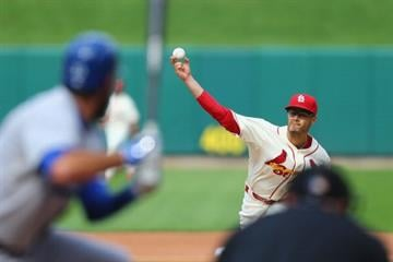 ST. LOUIS, MO - JULY 19: Starter Joe Kelly #58 of the St. Louis Cardinals pitches against the Los Angeles Dodgers in the third inning at Busch Stadium on July 19, 2014 in St. Louis, Missouri.  (Photo by Dilip Vishwanat/Getty Images) By Dilip Vishwanat