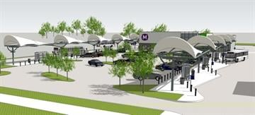 The new station will have an indoor waiting area, restrooms and a free parking lot. By Stephanie Baumer