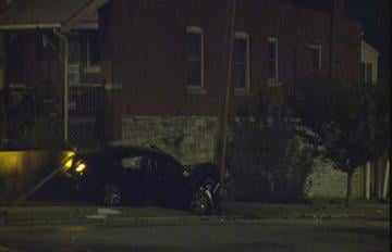 A call for 'shots fired' ultimately ended in a car crash early Friday morning, according to police. By Stephanie Baumer