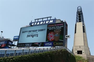 Daniel Nickerson, age 6 of Foxboro, Massachusetts, has an inoperable brain tumor. The New England Patriots helped him celebrate his birthday by inviting him to the stadium to meet the players and go on the field during practice. By David Silverman