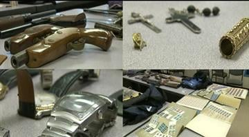 Some of the items police believe he took