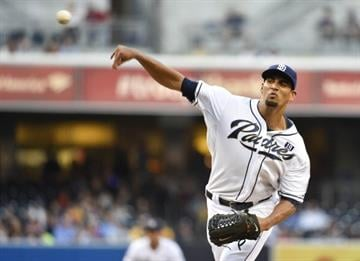 SAN DIEGO, CA - JULY 29:  Tyson Ross #38 of the San Diego Padres pitches during the first inning of a baseball game against the St. Louis Cardinals at Petco Park July 29, 2014 in San Diego, California.  (Photo by Denis Poroy/Getty Images) By Denis Poroy