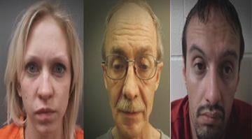 Roby Sapere and Thomas York face burglary and assault charges and Jessica Berry is charged with receiving stolen property