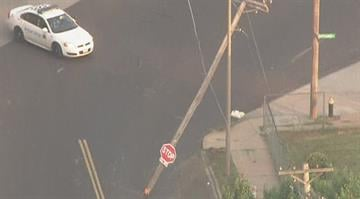 A minivan struck a utility pole causing hundreds to lose power in north St. Louis Thursday morning. By Stephanie Baumer