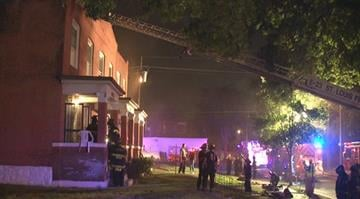 A north St. Louis woman smelled something strange and discovered a fire in the basement of her home Wednesday night. By Stephanie Baumer