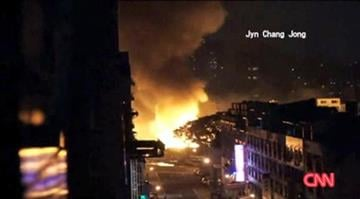 A downtown district of the southern Taiwanese city of Kaohsiung was ripped apart just before midnight Thursday by a series of explosions that killed at least 25 people and injured hundreds more By Stephanie Baumer