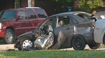 Three people were hospitalized following a three car collision in the Metro East. By Stephanie Baumer
