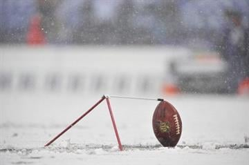 BALTIMORE, MD - DECEMBER 08:  A football is placed during practice before the game between the Baltimore Ravens and the Minnesota Vikings at M&T Bank Stadium on December 8, 2013 in Baltimore, Maryland.  (Photo by Larry French/Getty Images) By Larry French