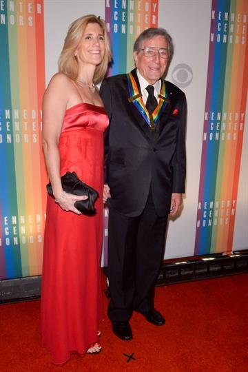 WASHINGTON, DC - DECEMBER 8: Susan Crow and Tony Bennett pose on the red carpet during the The 36th Kennedy Center Honors gala at the Kennedy Center on December 8, 2013 in Washington, DC.   (Photo by Kris Connor/Getty Images) By Kris Connor