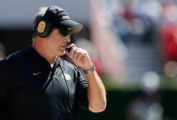 ATHENS, GA - OCTOBER 12:  Head coach Gary Pinkel of the Missouri Tigers looks on during the game against the Georgia Bulldogs at Sanford Stadium on October 12, 2013 in Athens, Georgia.  (Photo by Kevin C. Cox/Getty Images) By Kevin C. Cox