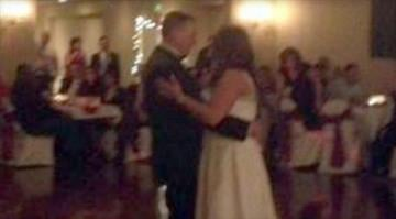 William Riley Knight and Nikki Knight dance at their wedding reception, Saturday, Dec. 14, 2013.  WBBM / COURTESEY OF ANGIE LOWE, FACEBOOK By Brendan Marks