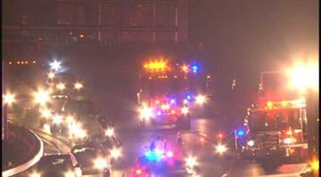 (KMOV.com) – A tractor trailer and car collided on southbound I-270 at Dougherty Ferry in Des Peres Monday night. By Stephanie Baumer