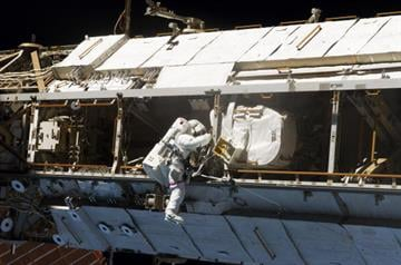 Why astronauts could be working on Christmas.  NASA has ordered a series of urgent spacewalks to fix a broken cooling line at the International Space Station, but hopes it can be resolved before the holiday. By Handout
