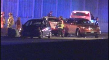 (KMOV.com) – Three lanes of westbound 64 in Richmond Heights were closed early Wednesday morning due to a multi-vehicle accident. By Stephanie Baumer