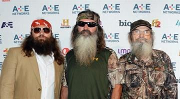 NEW YORK, NY - MAY 09:  (L-R) Jase Robertson, Phil Robertson and Si Robertson attend A&E Networks 2012 Upfront at Lincoln Center on May 9, 2012 in New York City.  (Photo by Jason Kempin/Getty Images for A&E Networks) By Jason Kempin