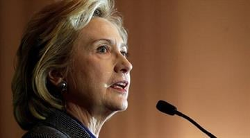 Former Secretary of State Hillary Clinton says she won't decide on a 2016 presidential bid until next year. By Brendan Marks