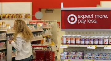 Who's struggling with a cyber-security nightmare.  Target says data connected to about 40 million credit and debit card accounts was stolen as part of a breach. By Brendan Marks